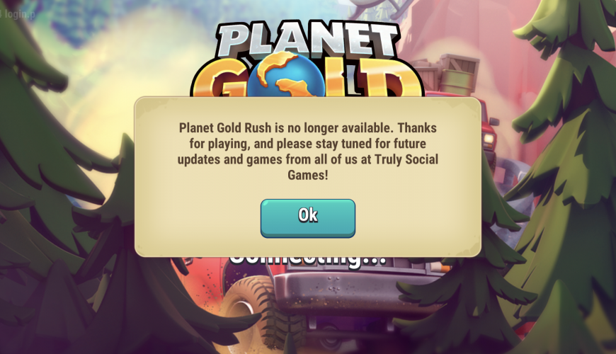 Planet Gold Rush mine closed! We re working on GOLD MANIA 983c7d0e1